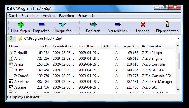 7 Zip Dateien Packen Und Entpacken Exthdd De
